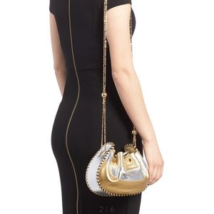 Marc Jacobs Bags - MARC JACOBS gold crossbody sway leather chain bag